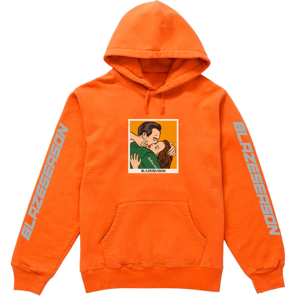 Miss You Hoodie Orange Fluo