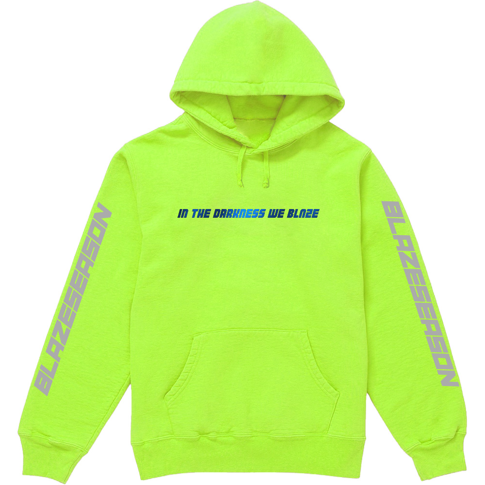 In The Darkness We Blaze Hoodie Blue