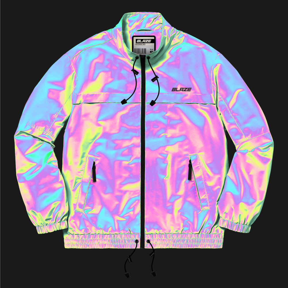 Rainbow Reflective Jacket Grey/Rainbow